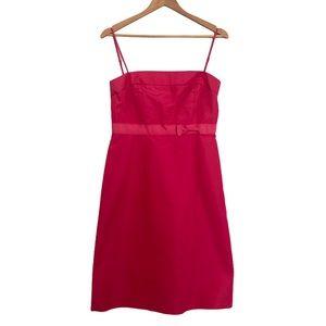 J. Crew Silk A Line Shift Dress Hot Pink 8P